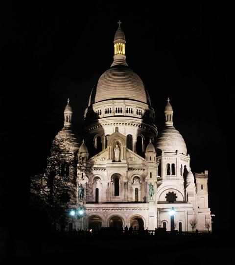 Bazilika Sacré-Cœur v noci